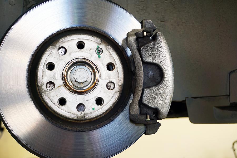 Brake Disc, Brake Caliper Mounted On A Modern Car. Concept Of Se